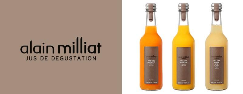 フランスが誇る美食のひとつとして注目を集めているアラン・ミリアのジュースとネクター。