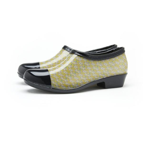 防水 レインシューズ 雨用 ローカット バイカラー レディース 雨靴 靴 オールシーズ