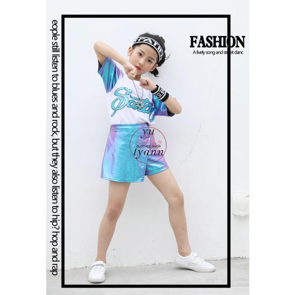 キッズ ダンス衣装 ヒップホップ HIPHOP ダンストップス 子供 男の子 セットアップ ジャズダンス パンツ 女の子 演出服 練習着 ステージ衣装|yu-tyann|15