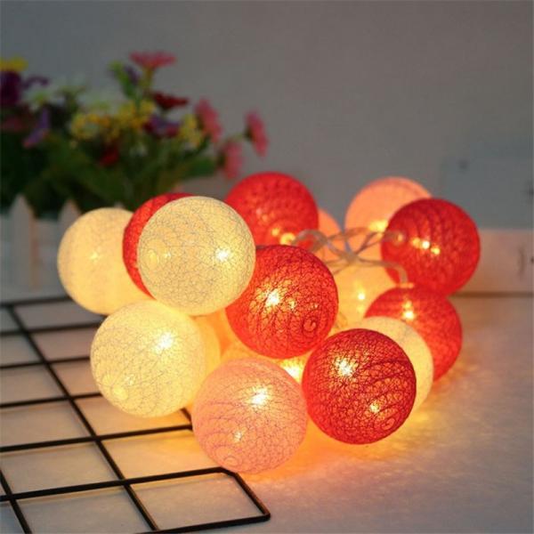 ストリングライト 綿 ボール LEDライト イルミネーションライト 年会 飾り 3m20灯 屋内 ロマンチック パーティー装飾 乾電池式 クリスマス 屋外 結婚式 誕生日|yu-tyann|10