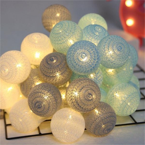 ストリングライト 綿 ボール LEDライト イルミネーションライト 年会 飾り 3m20灯 屋内 ロマンチック パーティー装飾 乾電池式 クリスマス 屋外 結婚式 誕生日|yu-tyann|11