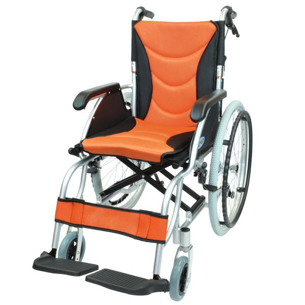 車椅子 軽量 折りたたみ コンパクト ケアテックジャパン ハピネスプレミアム CA-32SU 自走式 シート交換可能|yua-shop|15