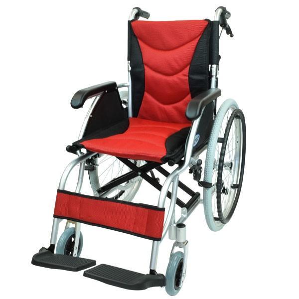 車椅子 軽量 折りたたみ コンパクト ケアテックジャパン ハピネスプレミアム CA-32SU 自走式 シート交換可能|yua-shop|16