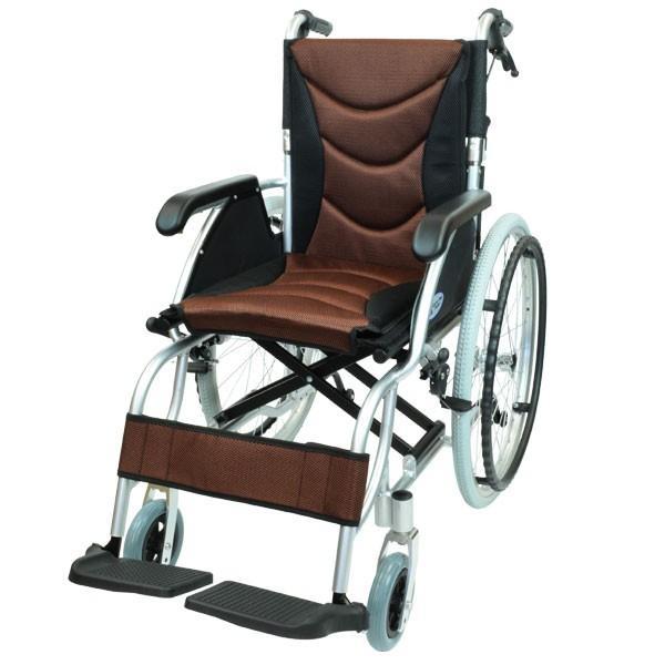 車椅子 軽量 折りたたみ コンパクト ケアテックジャパン ハピネスプレミアム CA-32SU 自走式 シート交換可能|yua-shop|17