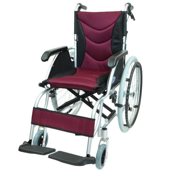車椅子 軽量 折りたたみ コンパクト ケアテックジャパン ハピネスプレミアム CA-32SU 自走式 シート交換可能|yua-shop|19
