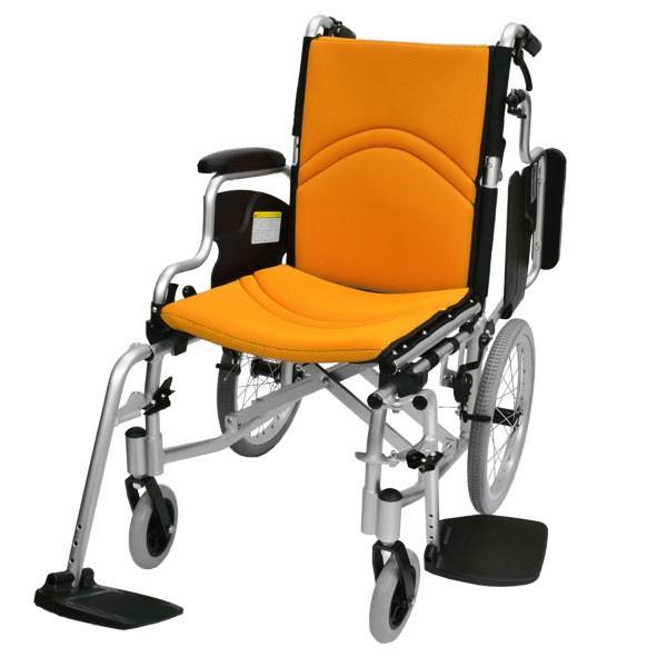 車椅子 折りたたみ コンパクト ケアテックジャパン コンフォート-介助式- CAH-20SU 旧ウィル シート交換可能|yua-shop|15