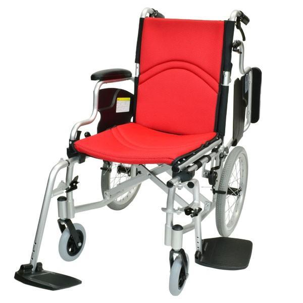 車椅子 折りたたみ コンパクト ケアテックジャパン コンフォート-介助式- CAH-20SU 旧ウィル シート交換可能 yua-shop 16