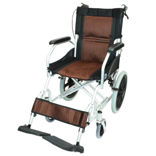 車椅子 軽量 折りたたみ コンパクト ケアテックジャパン ハピネスライト-介助式- CA-22SU【お得なシート2枚セット】|yua-shop|18