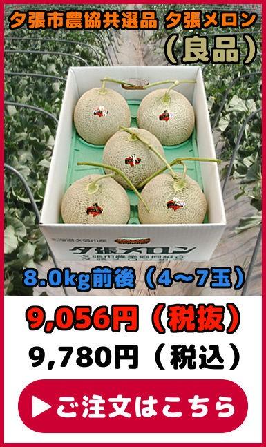 共選品夕張メロン【良品】(8.0kg【4〜7玉】)
