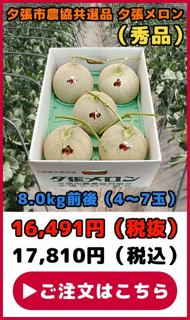 共選品夕張メロン【秀品】(8.0kg【4〜7玉】)