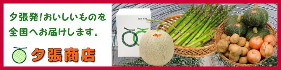 夕張発!おいしいものを全国へお届けします。 夕張商店 夕張メロンをはじめ北海道のおいしい特産品を全国へ!