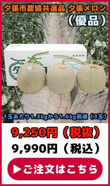 共選品夕張メロン【優品】(3玉)