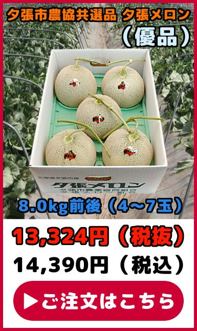 共選品夕張メロン【優品】(8.0kg【4〜7玉】)
