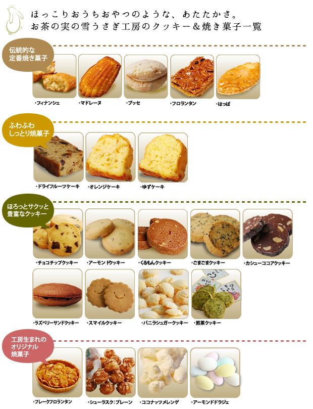 焼き菓子バラ売り商品一覧表