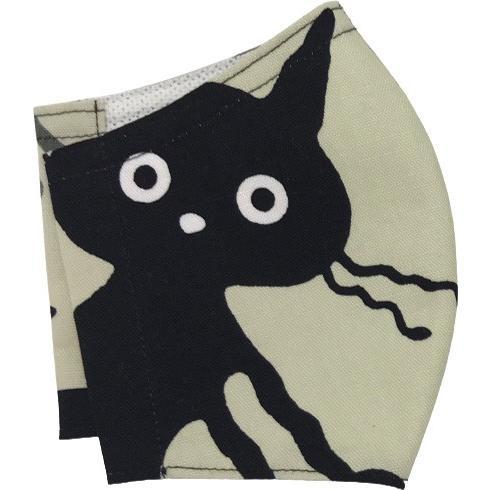 ネコ柄布マスク-2 裏側素材選択可。春夏用にはさらさらとしたメッシュ、秋冬用には肌触りも良いダブルガーゼ|yume-ribbon|16