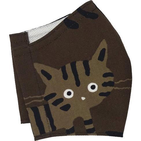 ネコ柄布マスク-2 裏側素材選択可。春夏用にはさらさらとしたメッシュ、秋冬用には肌触りも良いダブルガーゼ|yume-ribbon|14