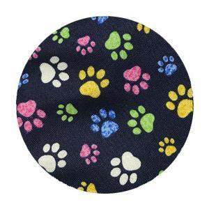 不織布マスクがそのまま使える布マスクカバー 肉球プリント 肌側に抗ウイルス・抗菌素材使用 猫 犬 日本製 コットン100%|yume-ribbon|30