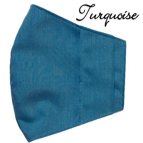 無地マスクカバー 柄もの不織布マスク用  夏でも使える裏側接触冷感メッシュ 表側ポリエステル生地でしわにならない yume-ribbon 30