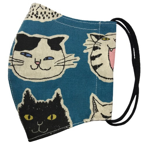 ネコ柄布マスク 裏側素材選択可。春夏用にはさらさらとしたメッシュ、秋冬用には肌触りも良いダブルガーゼ|yume-ribbon|20