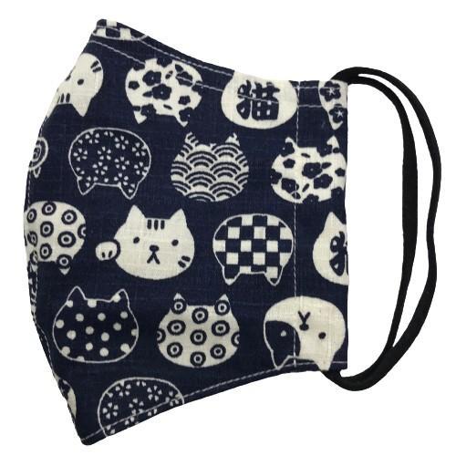 ネコ柄布マスク 裏側素材選択可。春夏用にはさらさらとしたメッシュ、秋冬用には肌触りも良いダブルガーゼ|yume-ribbon|22