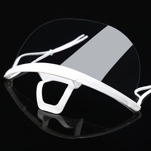 透明マウスシールド10個セット 飛沫防止対策用の透明マスク 安心の2段階検品 予備のゴムひも付き yume-ribbon 13
