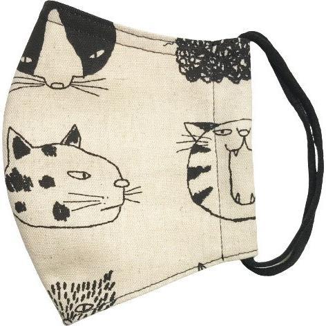 ネコ柄布マスク 裏側素材選択可。春夏用にはさらさらとしたメッシュ、秋冬用には肌触りも良いダブルガーゼ|yume-ribbon|24