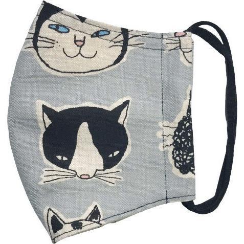 ネコ柄布マスク 裏側素材選択可。春夏用にはさらさらとしたメッシュ、秋冬用には肌触りも良いダブルガーゼ|yume-ribbon|23