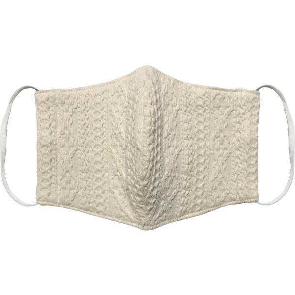 アラン模様ニットを表側に、抗菌作用のあるダブルガーゼを内側に使ったあったか布マスク 日本製|yume-ribbon|19