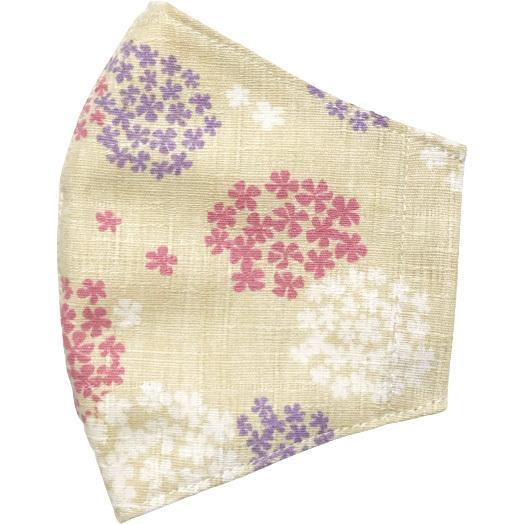 あじさい柄の布マスクカバー 肌側に抗ウイルス・抗菌素材のガーゼもしくは夏用メッシュ選択可 不織布マスクがそのまま使える 高級感を感じるドビー織 日本製|yume-ribbon|23