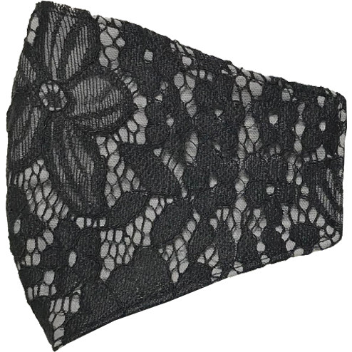 黒レースのおしゃれなスリムマスク。カラーガーゼと抗ウイルス・抗菌ガーゼを組み合わせての3層構造。50回洗っても抗菌作用は持続します。日本製|yume-ribbon|17