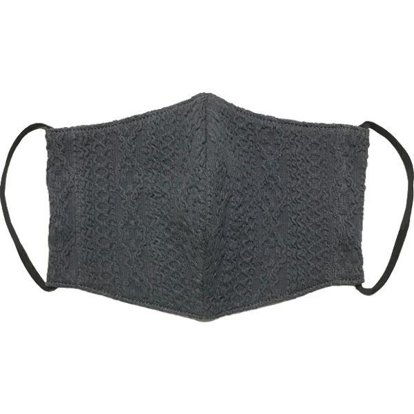 アラン模様ニットを表側に、抗菌作用のあるダブルガーゼを内側に使ったあったか布マスク 日本製|yume-ribbon|20