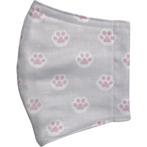 ガーゼに肉球柄プリントの布マスク  ふんわりダブルガーゼダ 猫 犬 日本製 コットン100%|yume-ribbon|20