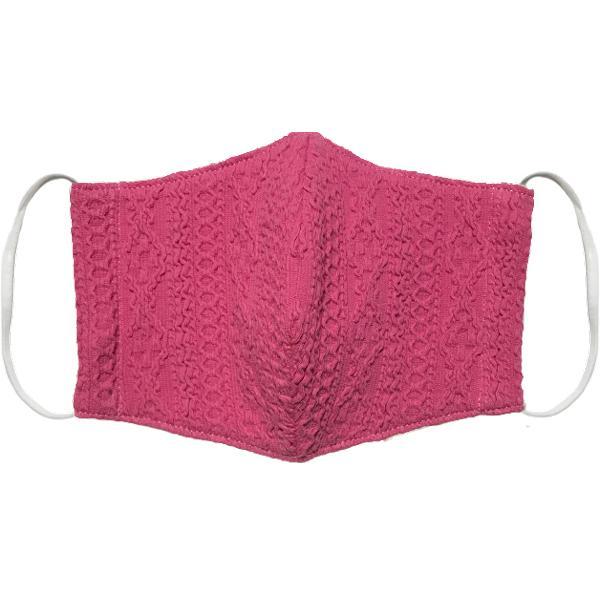 アラン模様ニットを表側に、抗菌作用のあるダブルガーゼを内側に使ったあったか布マスク 日本製|yume-ribbon|21