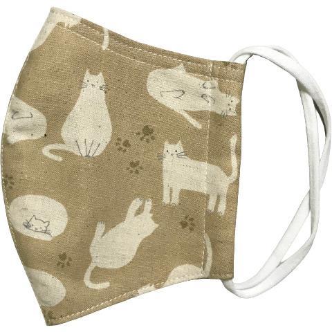アラン模様ニットを表側に、抗菌作用のあるダブルガーゼを内側に使ったあったか布マスク 日本製|yume-ribbon|23