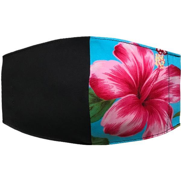 ハワイアンプリントのマスクカバー 不織布マスクがそのまま使える しわになりにくいポリコットン 肌側に抗ウイルス・抗菌素材使用  日本製 yume-ribbon 28