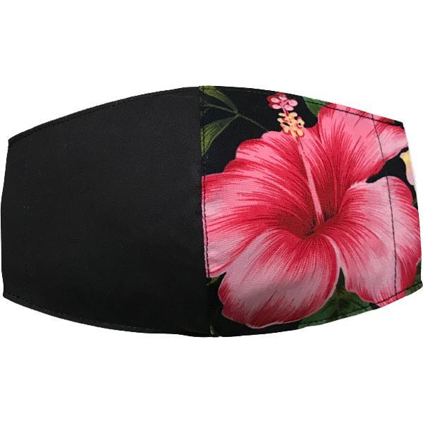 ハワイアンプリントのマスクカバー 不織布マスクがそのまま使える しわになりにくいポリコットン 肌側に抗ウイルス・抗菌素材使用  日本製 yume-ribbon 30