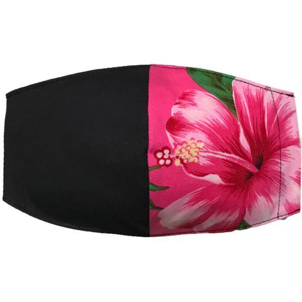 ハワイアンプリントのマスクカバー 不織布マスクがそのまま使える しわになりにくいポリコットン 肌側に抗ウイルス・抗菌素材使用  日本製 yume-ribbon 31