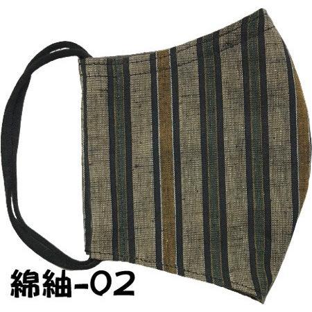 綿紬の和風おしゃれマスク yume-ribbon 20