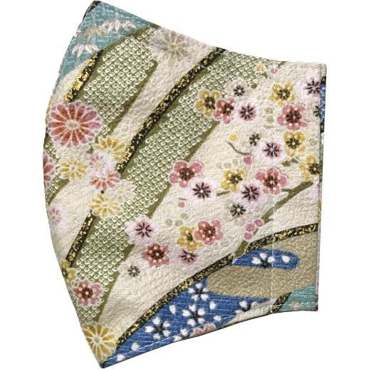 和風和柄の布マスク ゴールドライン |yume-ribbon|22
