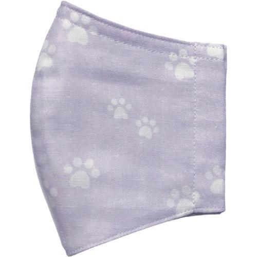 ガーゼに肉球柄プリントの布マスク  ふんわりダブルガーゼダ 猫 犬 日本製 コットン100%|yume-ribbon|16