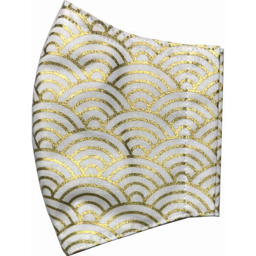 和風和柄の布マスク ゴールドライン |yume-ribbon|24