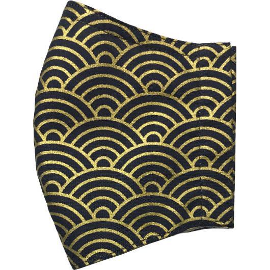 和風和柄の布マスク ゴールドライン |yume-ribbon|23