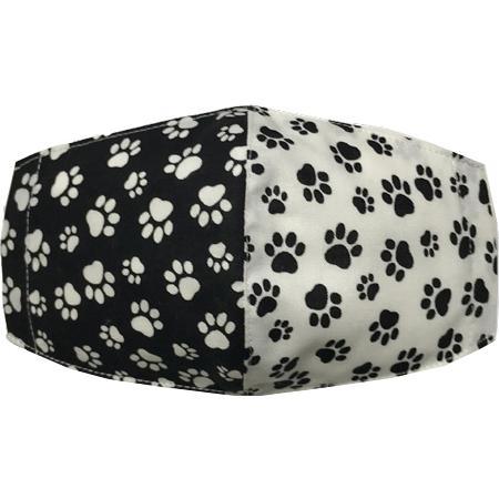 不織布マスクがそのまま使える布マスクカバー 肉球プリント 肌側に抗ウイルス・抗菌素材使用 猫 犬 日本製 コットン100%|yume-ribbon|32