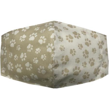 不織布マスクがそのまま使える布マスクカバー 肉球プリント 肌側に抗ウイルス・抗菌素材使用 猫 犬 日本製 コットン100%|yume-ribbon|35