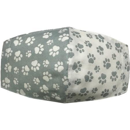 不織布マスクがそのまま使える布マスクカバー 肉球プリント 肌側に抗ウイルス・抗菌素材使用 猫 犬 日本製 コットン100%|yume-ribbon|34