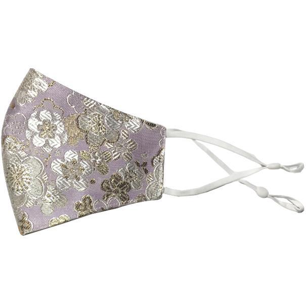 着物の帯のような金襴生地の立体マスク。金糸使いの豪華でおしゃれ、スリムタイプの布マスクです。ウエディング、コスプレ、舞台衣装、和装に。日本製|yume-ribbon|22