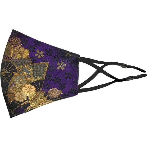 着物の帯のような金襴生地の立体マスク。金糸使いの豪華でおしゃれ、スリムタイプの布マスクです。ウエディング、コスプレ、舞台衣装、和装に。日本製|yume-ribbon|31
