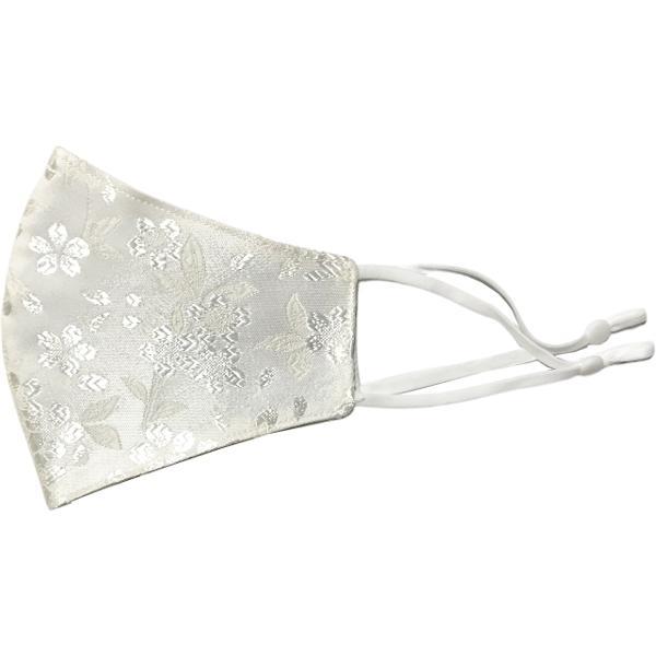 着物の帯のような金襴生地の立体マスク。金糸使いの豪華でおしゃれ、スリムタイプの布マスクです。ウエディング、コスプレ、舞台衣装、和装に。日本製|yume-ribbon|25