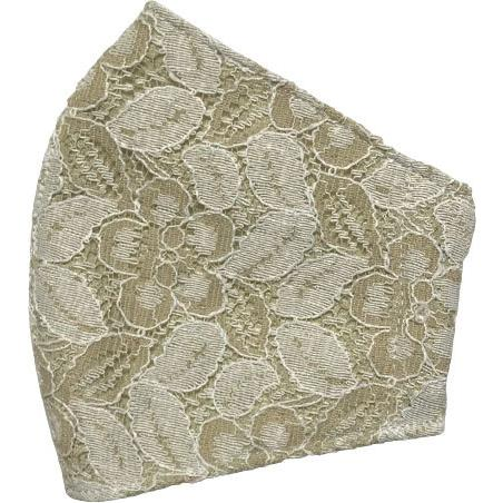 春夏用薄手 レースマスクカバー 繊細なタッチが美しいラッセルレースに接触冷感メッシュ・抗菌ダブルガーゼの3枚仕立て 不織布マスク用布カバーです。|yume-ribbon|21