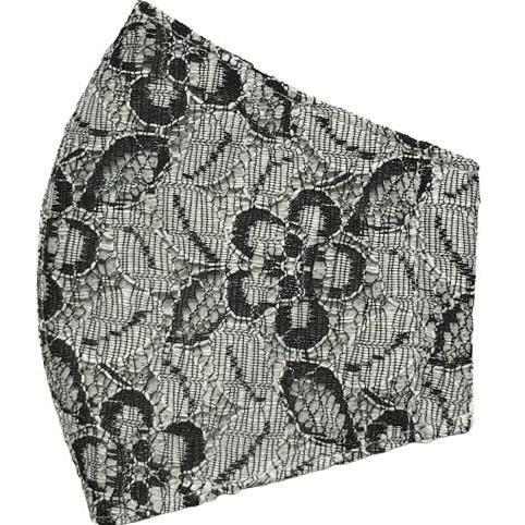 春夏用薄手 レースマスクカバー 繊細なタッチが美しいラッセルレースに接触冷感メッシュ・抗菌ダブルガーゼの3枚仕立て 不織布マスク用布カバーです。|yume-ribbon|22